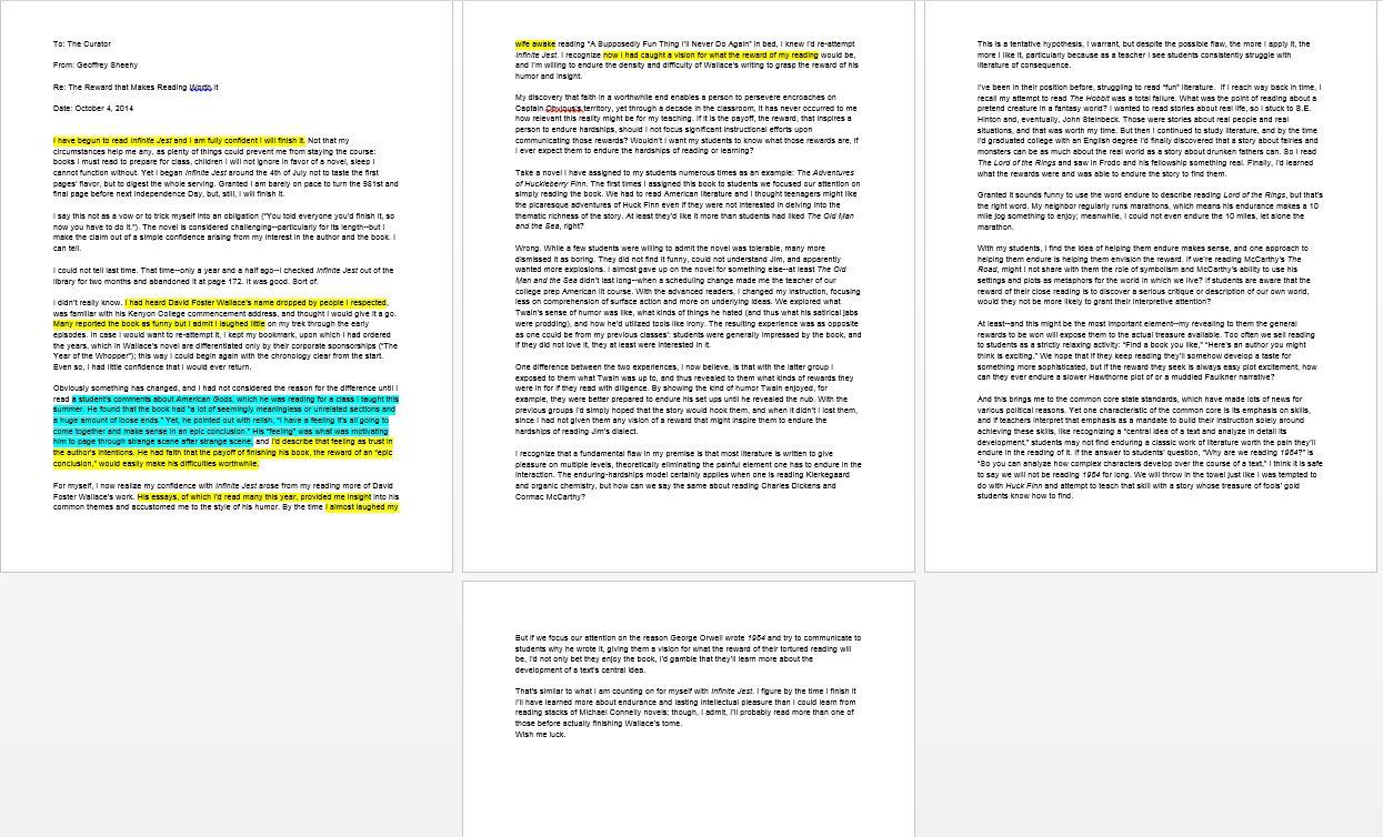 the obligation to endure essay
